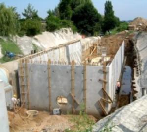 Mischwasserbehandlung Teileinzugsgebiet Erich-Pfaff-Straße in Bautzen Regenüberlaufbecken V = 1.800 m³
